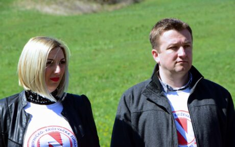 Đurđevački gradonačelnik Hrvoje Janči i Dajana Milodanović, članica Nadzornog odbora Podravke koja je nedavno uspješno inicirala povećanje plaća radnicima Podravke
